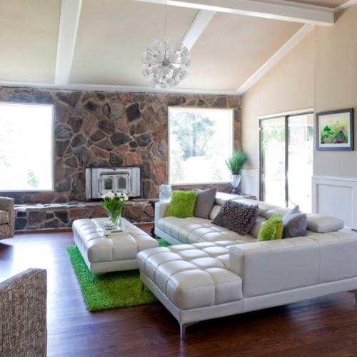 Contemporary interior with art