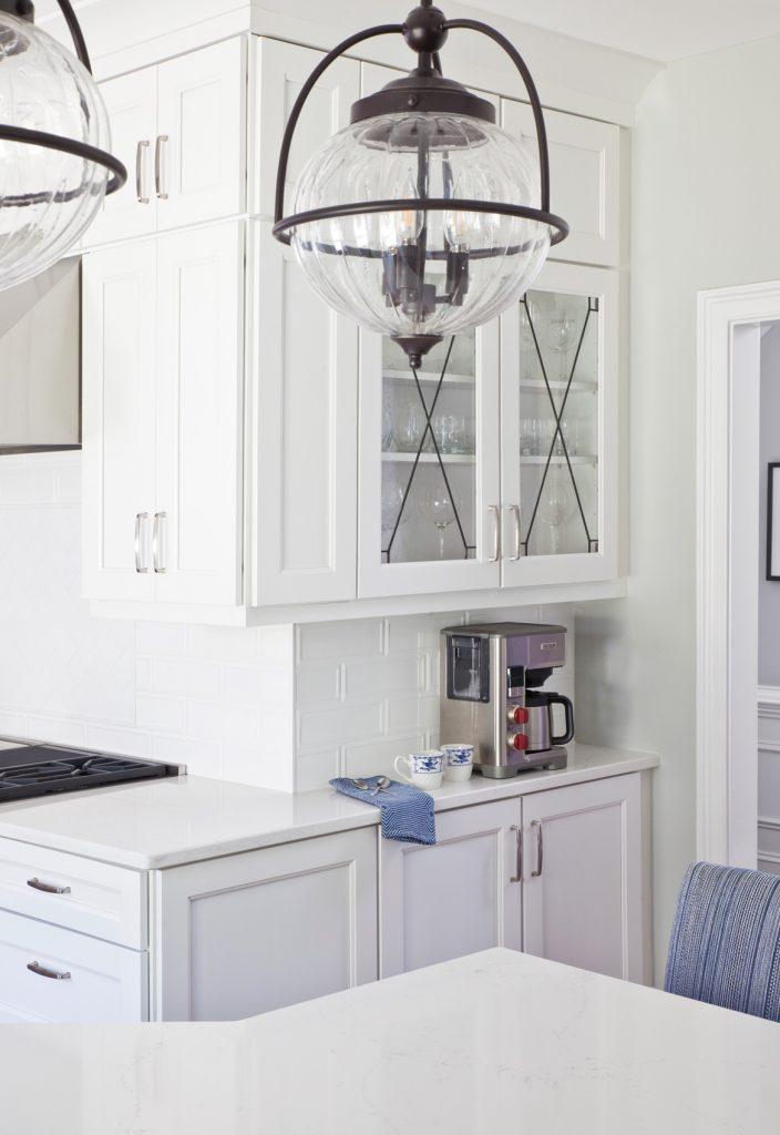 Clean, upscale, fresh white kitchen